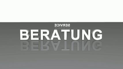Text Rotation - 100% Beratung Service Kompetenz - Grau Schwarz 2
