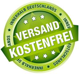 """Button Banner """"Versandkostenfrei innerhalb D"""" grün"""