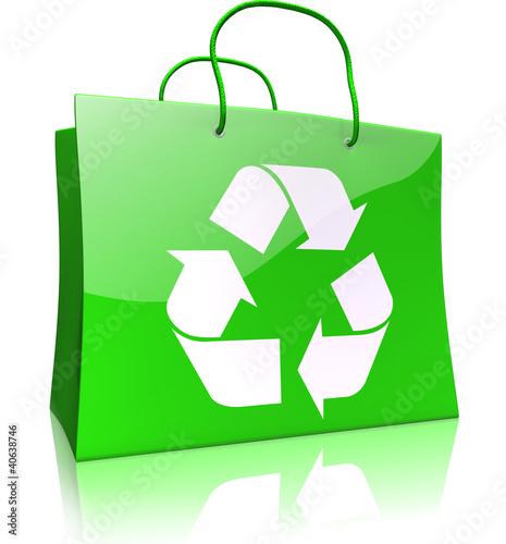 Einkaufstasche mit Recycling-Symbol