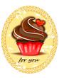 Muffin, Cup Cake mit Herz