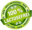 """Button Banner """"100 % Lactosefrei"""" grün"""