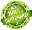 "Button Banner ""100 % Glutenfrei"" grün"