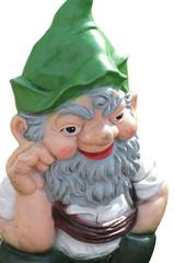 Gartenzwerg mit grüner Mütze