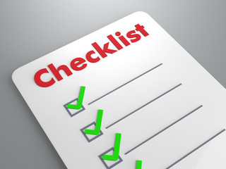 checklist in whiteboard