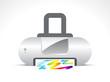 abstract printer icon