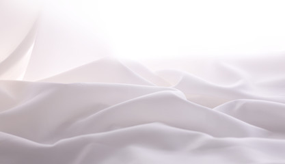 soft focused elegant white silk,  can use as wedding background