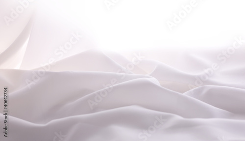 soft focused elegant white silk,  can use as wedding background