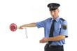 Leinwandbild Motiv Polizei in Uniform
