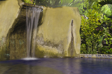 Tropical Spa with waterfall