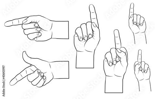 Stinkefinger, zeigende Finger