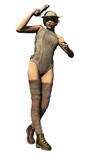 Sexy scifi female bounty hunter poster