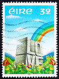 Postage stamp Ireland 1992 Rainbow and LOVE Etched in Stone poster