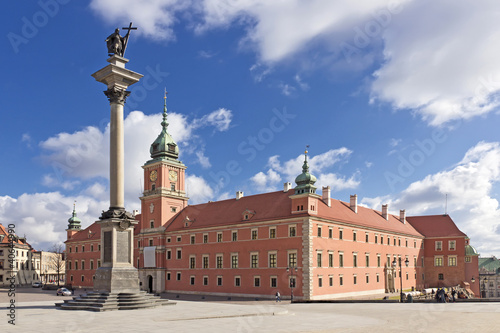 Fototapeta Sights of Poland. Warsaw Castle Square. King Sigismund monument