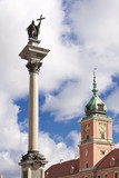 Sights of Poland. Warsaw Castle Square. KIng Sigismund monument.