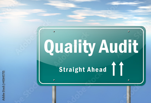 "Highway Signpost ""Quality Audit"""