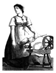 Rural Spinner - Fileuse - 19th century