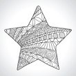 Decorative star isolated on wight bacground. Vector