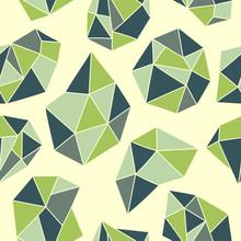 Seamless pattern avec des cristaux verts