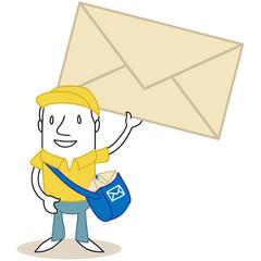 Figur, Postbote, Briefumschlag 2