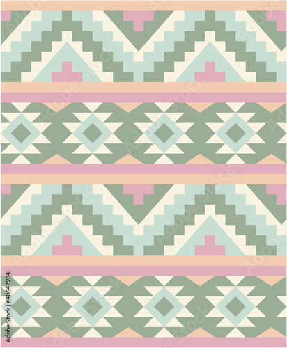 Sticker Seamless pattern in navajo style 2
