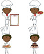Cute African-American chef men