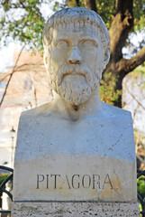 Rome Pythagoras statue at Borghese villa
