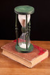 book and hourglass
