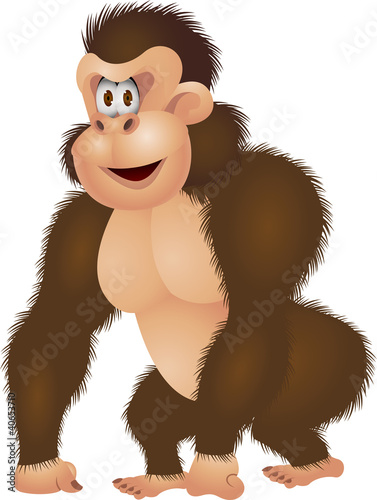 Gorilla cartoon isolated