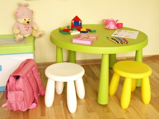 Furniture in child room