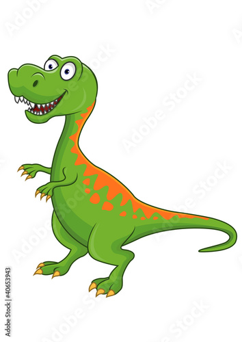Foto op Canvas Dinosaurs Tyrannosaurus cartoon