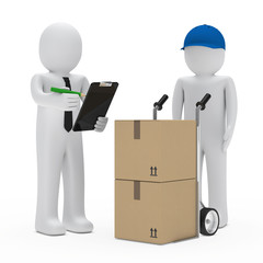 businessman package delivery