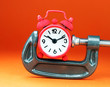 Rocking Red Clamped Clock