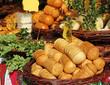 traditional polish oscypek cheese on market in Krakow