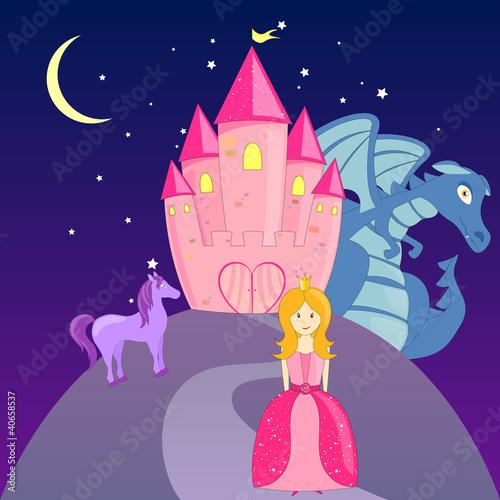 Fotobehang Pony Vector Fairytale