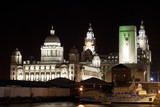Port of Liverpool Building at Night