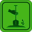 green garden icon - symbol landscaping