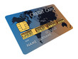 Generic credit card with combination lock , isolated
