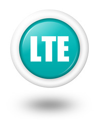 LTE vector icon with shadow