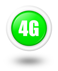 4G vector icon with shadow