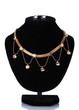 beautiful golden necklace  and earrings
