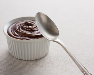 Ramekin with chocolate cream