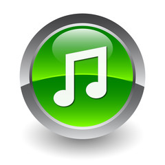 music green button