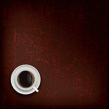 Fototapety abstract grunge background with coffee cup