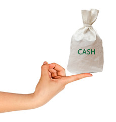 Bag with cash