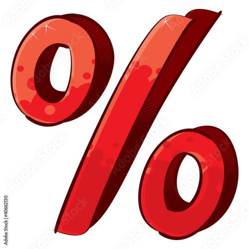 Artistic percent sign