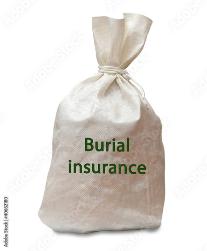 Bag with burial insurance