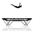 silhouette of gymnast jumping on trampoline