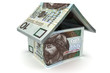 House made of 10 zloty notes