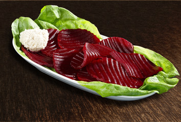 Beetroot salad with