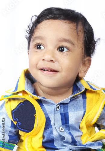 Beautiful Indian Cute Baby Looking up